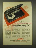 1949 Lufkin Chrome Clad Micrometer Tool Ad