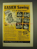 1949 Porter-Cable Guild Saw Tool Ad - Easier Sawing