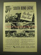 1949 South Bend Lathe Ad - The Basic Shop Tool
