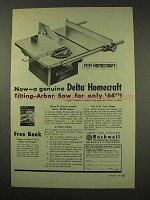 1949 Delta Homecraft Tilting-Arbor Saw Tool Ad