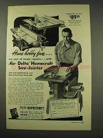 1949 Delta Homecraft Saw-jointer Ad - Model No. 37-S10