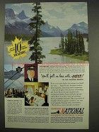 1949 Canadian National Railway Ad - Love Jasper