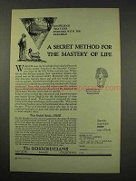 1949 Rosicrucians Ad - Secret For The Mastery of Life