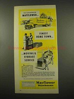 1957 Mayflower Warehouses Ad - You Can Depend On