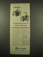 1957 Burroughs Accounting Machine Ad - Production Sales