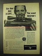1957 Bausch & Lomb Rifle Scope Ad - You Want Now!