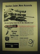 1957 Bausch & Lomb BALscope 60mm Spotting Scope Ad