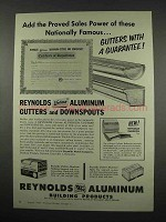 1957 Reynolds Aluminum Gutters and Downspouts Ad