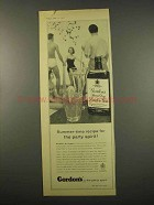 1957 Gordon's Gin Ad - Summer-Time Party Spirit