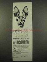 1957 Wisconsin Tourism Ad - Tender Eyes of a Deer