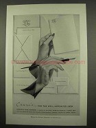 1957 Crane's Fine Paper Ad - For Well-Appointed Desk