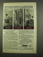 1957 Lennox Stowaway Air Conditioner Ad