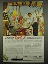 1957 American Export Lines Cruise Ad - Let Yourself Go