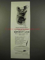 1957 Orient Line Cruise Ad - Largest and Fastest