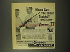 1957 Crosman .22 Pellgun Ad - Where Can You Shoot?