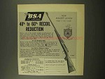 1957 BSA Rifle Advertisement - Recoil Reduction