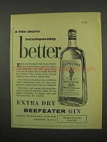 1957 Beefeater Gin Ad - Incomparably Better