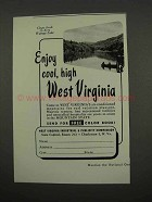 1957 West Virginia Tourism Ad - Watoga Lake