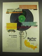 1956 Southern Pacific Railroad Ad - Dealing in Futures