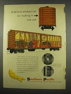 1956 Southern Pacific Railroad Ad - Picture Window Car