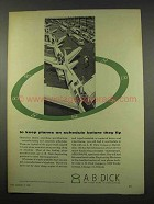 1956 A.B. Dick Duplicating Machine Ad - Planes