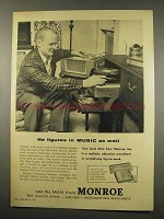 1956 Monroe Duplex Calculator Ad - Figures in Music