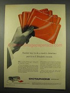 1956 Dictaphone Time-Master Dictating Machine Ad - Easiest Way