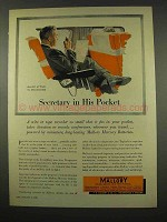 1956 Mallory Electronics Ad - Secretary in His Pocket