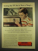 1956 Mallory Electronics Ad - Setting TV Is A Snap