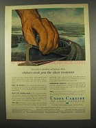 1956 Union Carbide Ad - Clickety-Clack Gets Silent