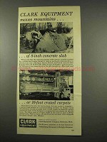 1956 Clark Equipment Ad - Tractor Shovel, Lift Truck