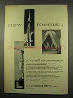 1956 Lehigh Portland Cement Ad - New Forms for Growth