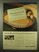 1956 Anaconda Aluminum Ad - See The Man