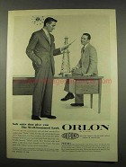 1956 Du Pont Orlon Ad - Soft Suits Well-Groomed Look