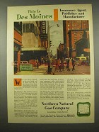 1956 Northern Natural Gas Company Ad - Des Moines