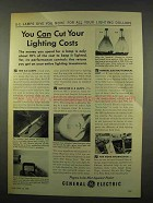 1956 General Electric Light Bulbs Ad - Cut Your Costs