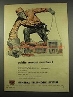 1956 General Telephone System Ad - Public Servant