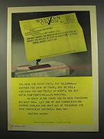 1956 Western Union Telegram Ad - Make The Point Fast