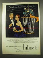 1956 Parliaments Cigarettes Advertisement - Want Everyone to Know