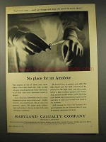 1956 Maryland Casualty Ad - No Place for an Amateur