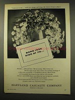 1956 Maryland Casualty Ad - Born 1935 Died at 70