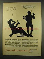 1956 Connecticut General Ad - If I Worked for Hires