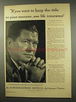 1956 Northwestern Mutual Life Insurance Ad, Gene Tunney