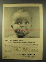 1956 New England Mutual Life Insurance Ad - Don't Fret