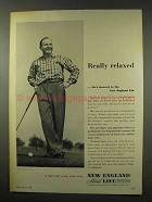 1956 New England Mutual Life Insurance Ad - Relaxed