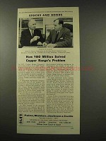 1956 Paine, Webber, Jackson and Curtis Ad, Stocks Bonds