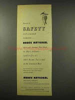 1956 Abbey National Ad - Invest in Safety