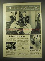 1956 Liberty Mutual Insurance Ad - College For Muscles
