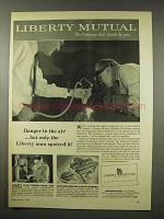 1956 Liberty Mutual Insurance Ad - Danger in The Air