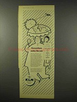 1956 KLM Airways Ad - Everywhere Under the Sun